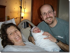 Rebecca, Me, and Ben just after he was born.
